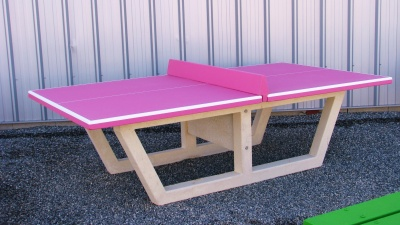 Table de ping pong rose