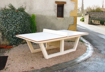 Tennis de table pour l 39 ext rieur mobilier b ton - Table de ping pong exterieur en beton ...