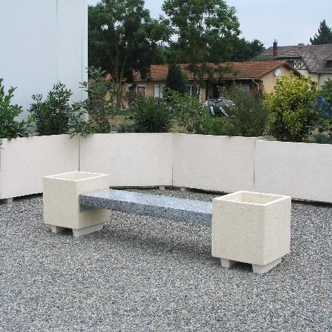 banc bac fleur mobilier b ton. Black Bedroom Furniture Sets. Home Design Ideas